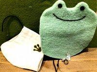 カエルの形マスクカバー