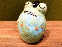 羊毛カエルランプシェード 緑