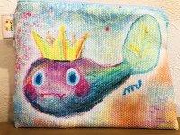 カエル王子ミニポーチ ふわふわ夢の中色
