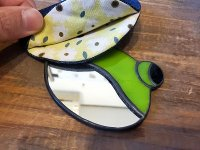カエルステンドグラス カエルの手鏡