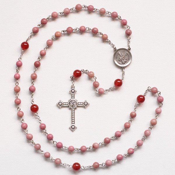 D様 オーダーメイド ピーモンタイト 大天使聖ミカエルのロザリオ