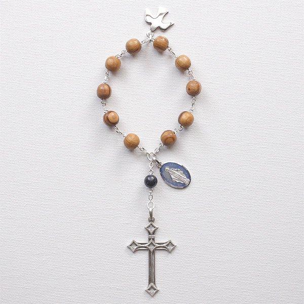 O様 オーダーメイド オリーブの木 聖霊のミニロザリオ(シルバー925製)