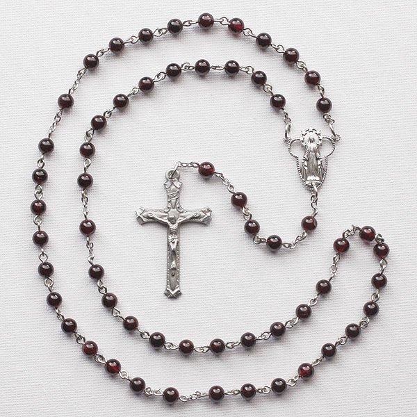 T様 オーダーメイド ガーネット 聖母マリアのロザリオ