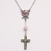 K様 オーダーメイド 薔薇彫りローズクォーツのネックレス