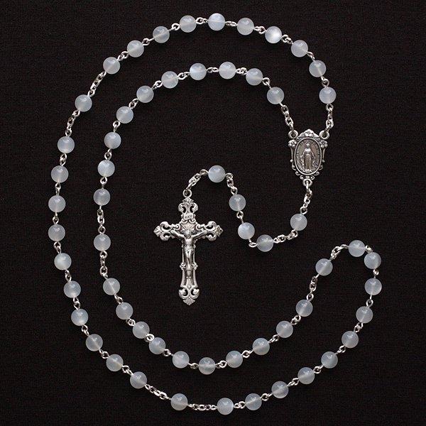 ムーンストーン 聖母マリアのロザリオ(シルバー925製)【送料無料】