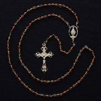 T様 オーダーメイド 琥珀 聖母マリアのロザリオ