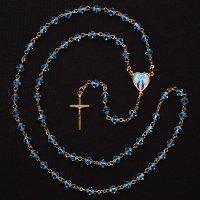 スワロフスキー(ブルー) 無原罪のマリアのロザリオ