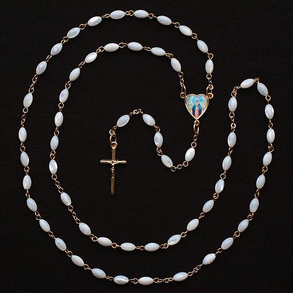 マザーオブパール 無原罪のマリアのロザリオ【送料無料】