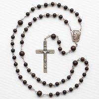 黒檀 聖ピオ神父のロザリオ【送料無料】