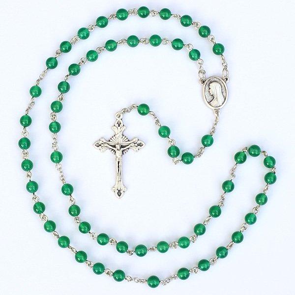 グリーンオニキス 聖母マリアのロザリオ...