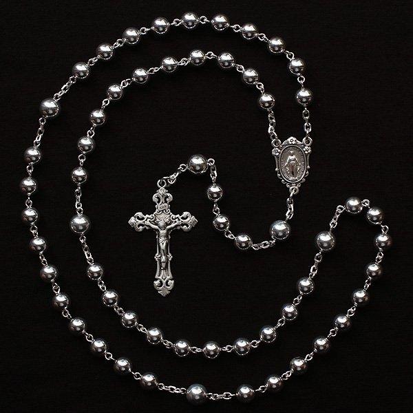 T様オーダーメイド シルバービーズ 聖母マリアのロザリオ2(シルバー925製)