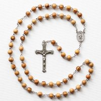 C様 オーダーメイド オリーブの木 聖母マリアのロザリオ