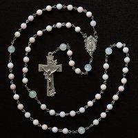 N様 オーダーメイド ピンクオパール聖母マリアのロザリオ