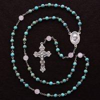 K様 オーダーメイド ターコイズ コルカタの聖テレサ(マザーテレサ)のロザリオ