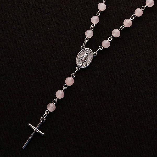 ローズクォーツ 聖母マリアのロザリオネ...