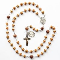 I様オーダーメイド 五島産椿・葡萄の木 聖霊のロザリオ(シルバー925製)