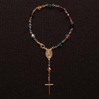 スワロフスキー(ミックス) 聖母マリアのミニロザリオ