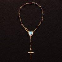 スワロフスキー(パープル) 聖母マリアのミニロザリオ