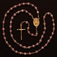 ピンクエピドート 聖母マリアのロザリオ