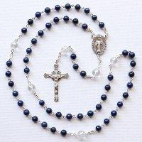 H様オーダーメイド ラピスラズリ 聖母マリアのロザリオ(シルバー925製)