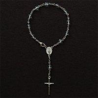水晶 聖母マリアのミニロザリオ