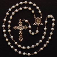 M様オーダーメイド あこや真珠 聖母マリアのロザリオ