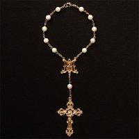 M様オーダーメイド あこや真珠 聖母マリアのミニロザリオ