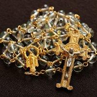 グリーンファントムクォーツ 聖母マリアのロザリオ