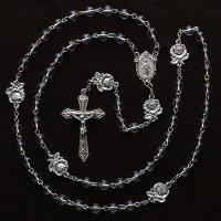 S様オーダーメイド 水晶 聖母マリアのロザリオ