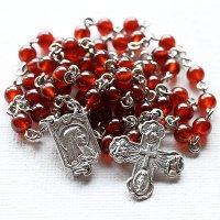 ヘソナイトガーネット ルルドの聖母マリアのロザリオ