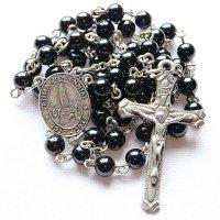 モリオン(黒水晶) ファティマの聖母のロザリオ
