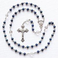 K様オーダーメイド ラピスラズリ 水晶 聖母マリアのロザリオ