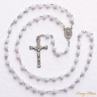 ブルーレースアゲート 聖母マリアのロザリオ