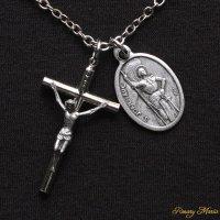 G様 オーダーメイド 十字架とジャンヌ・ダルクのネックレス