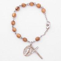 【6mm玉】オリーブの木 聖母マリアのロザリオブレスレット