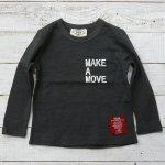 【PARK】パーク アメカジ MAKE A MOVE 長袖Tシャツ チャコール (PA19-103-CG)