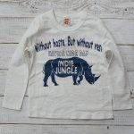 【INDIE JUNGLE】インディジャングル アメカジ サイ 長袖Tシャツ オフシロ (191103-OW)