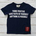 【PARK】パーク アメカジ THING POSITIVE 半袖Tシャツ ネイビー (PA19-202-NB)