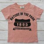 【PARK】パーク アメカジ 1895 半袖Tシャツ ピンク (PA19-203-PK)