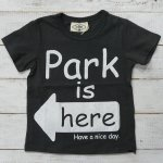 【PARK】パーク アメカジ PARK IS HERE 半袖Tシャツ チャコール (PA19-204-CG)