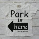 【PARK】パーク アメカジ PARK IS HERE 半袖Tシャツ オフシロ (PA19-204-OW)