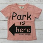 【PARK】パーク アメカジ PARK IS HERE 半袖Tシャツ ピンク (PA19-204-PK)