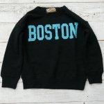 【EAST BLUE】イーストブルー アメカジ BOSTON 裏毛トレーナー ブラック (E13706-BK)