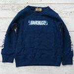 【EAST BLUE】イーストブルー アメカジ ロゴ 裏毛トレーナー ネイビー (E13715-NV)
