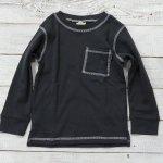 【F.O.KIDS】エフオーキッズ アメカジ サーマル 長袖Tシャツ チャコール (R106110-CH)