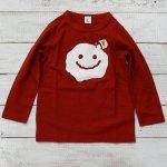 【Jeans-b 2nd】ジーンズベーセカンド アメカジ PAINT SMILE 長袖Tシャツ レッド (800202-RE)