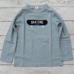 【Jeans-b 2nd】ジーンズベーセカンド アメカジ SKATING 長袖Tシャツ サックス (800205-SA)