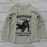 【CHANNEL】チャンネル 恐竜 ティラノサウルス 長袖Tシャツ 杢グレー (8404-MG)