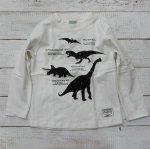 【CHANNEL】チャンネル 恐竜  長袖Tシャツ オフシロ (8405-OW)