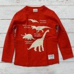 【CHANNEL】チャンネル 恐竜  長袖Tシャツ レッド (8405-RE)